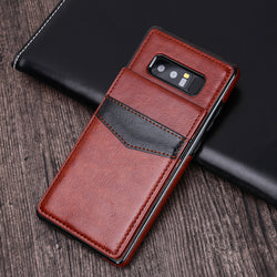 Luxury Vertical Wallet Magnet Buckle Flip Case For Samsung Galaxy Note 8 S9 S9 Plus