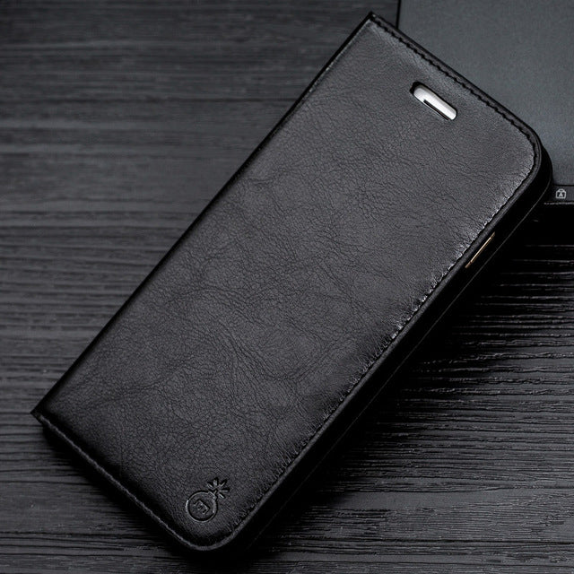 Luxury Stand PU Leather Case For Samsung Galaxy &iPhone
