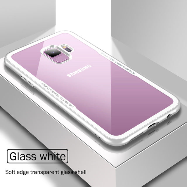 Luxury Tempered Glass Protective Phone Case For Samsung