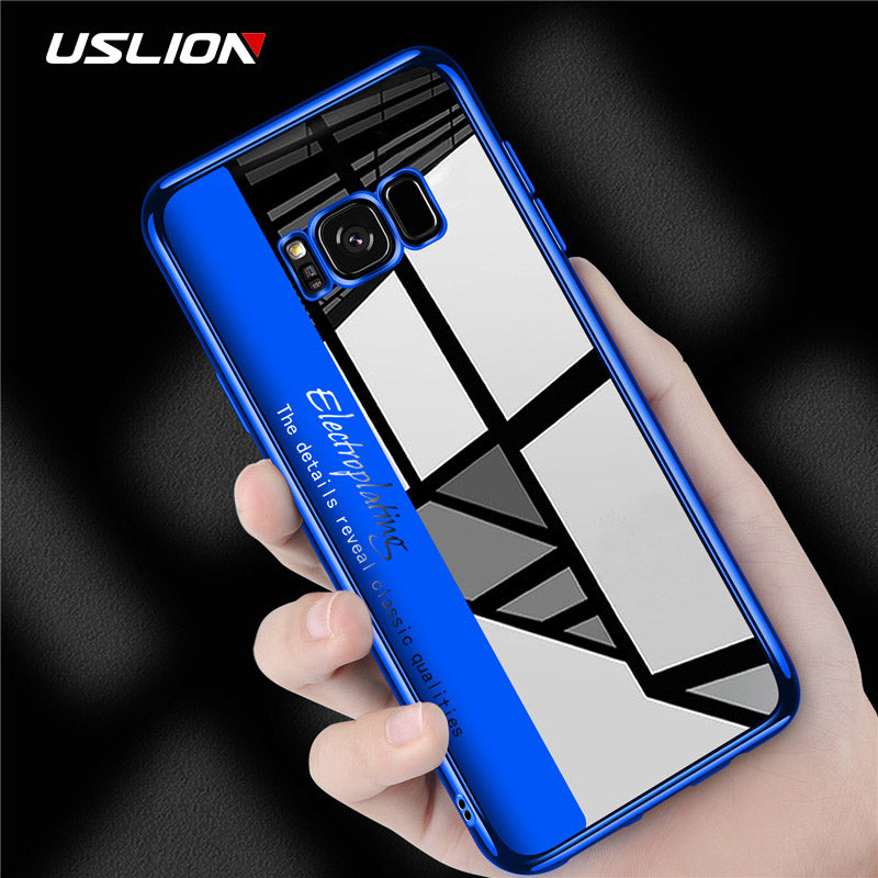 Transparent Electroplating Silicone TPU  Clear Case For Samsung