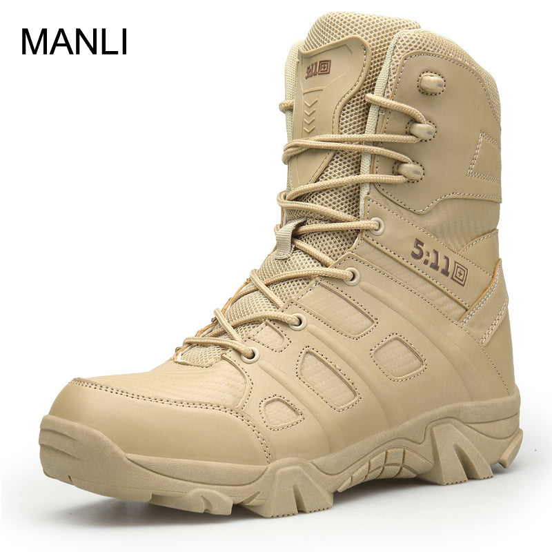 Men Outdoor Waterproof High-top Military Tactical Hiking Boot