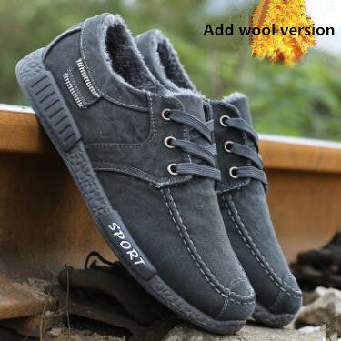 Breathable Denim Lace-Up Men's Casual Shoes