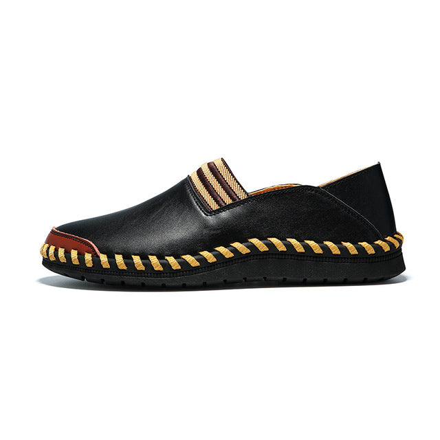 Vintage Genuine Leather Oil Wax Leather Outdoor Men's Casual Shoes
