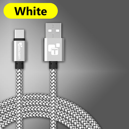 Type C Fast Charging USB Data Cable for Android (5 Colors Available)
