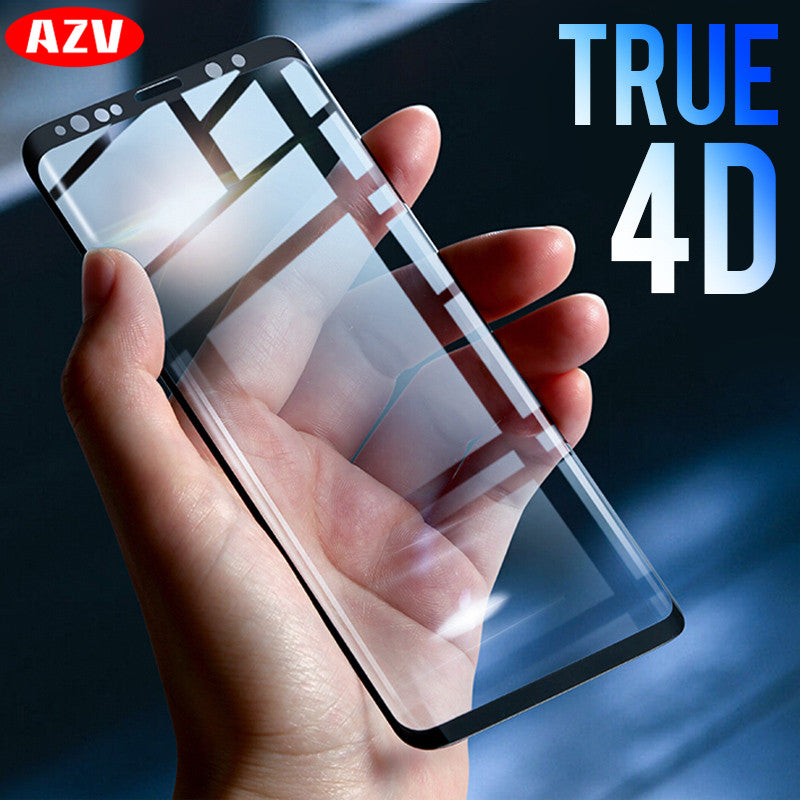 4D Full Cover Tempered Glass Screen Protector Film For Samsung Galaxy