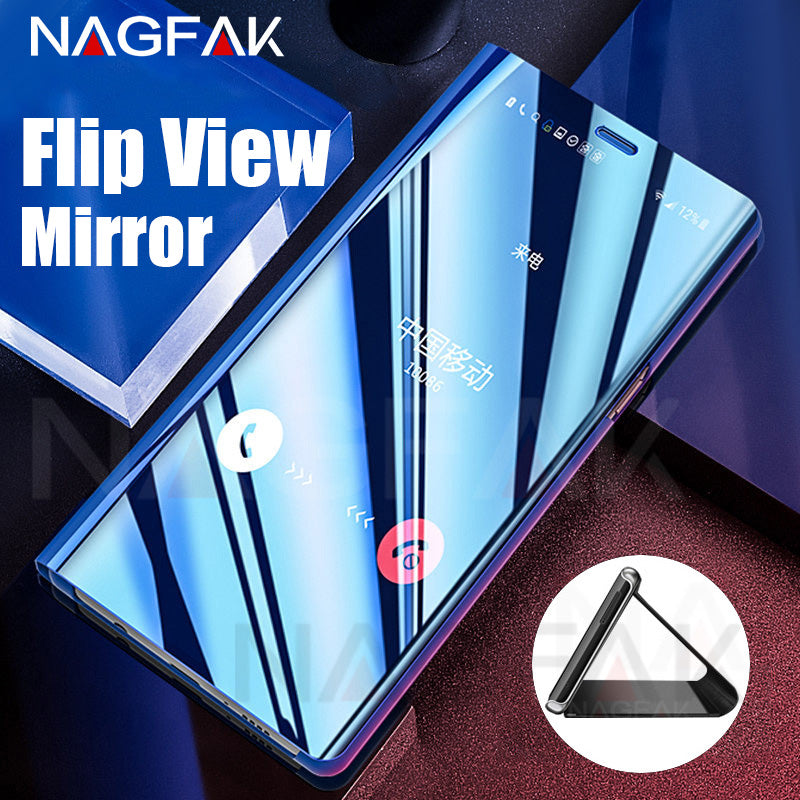 Smart View Flip Stand Cover Phone Case For Samsung