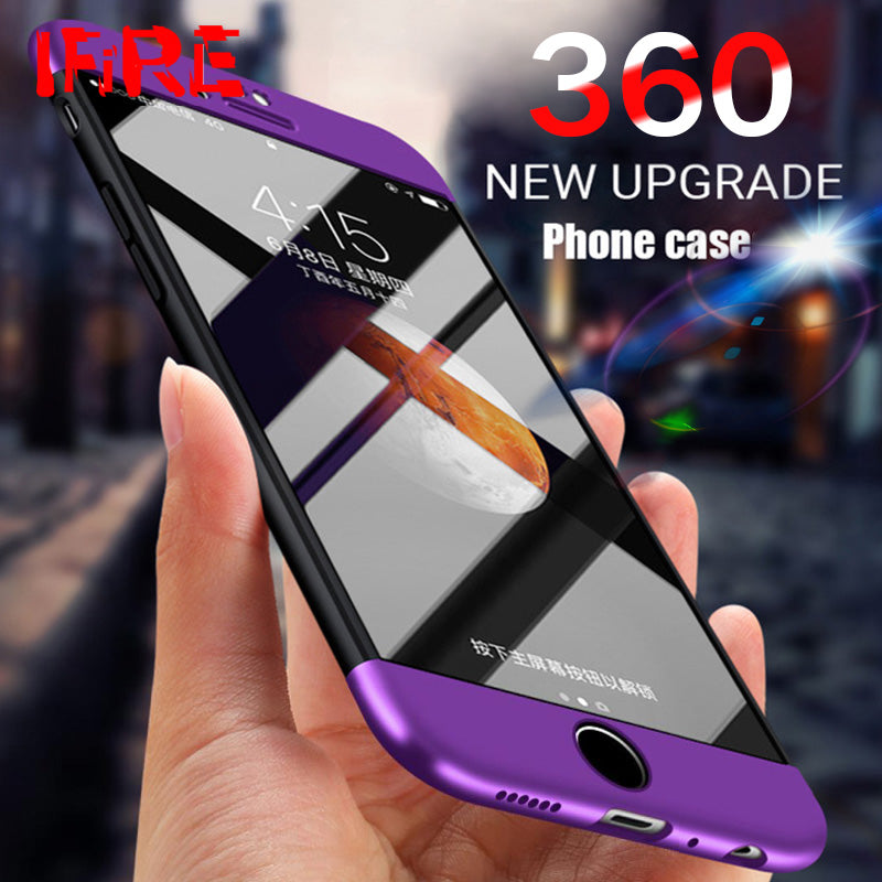 360 Degree Protection Hard Shockproof Back Cover Case For iPhone