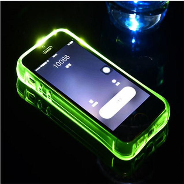 LED Flash Transparent Call Flash Luminous Soft Back Covers For iPhone
