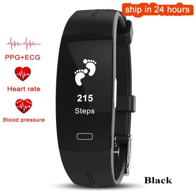 Waterproof Smartband -ECG+ PPG Blood Pressure Heart rate Monitor Fitness Tracker for IOS Android