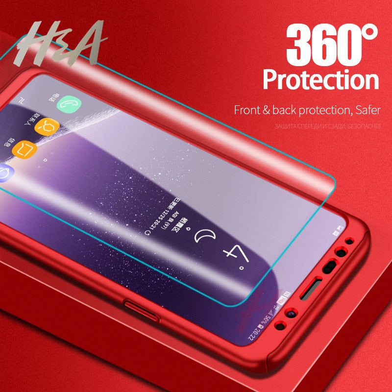 360 Full Cover Shockproof Phone Case For Samsung Galaxy