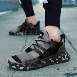 Fashion Camo Breathable Lace-Up Men's Sneakers