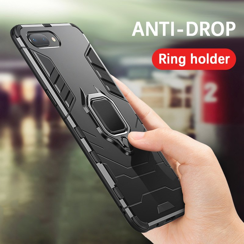 Shockproof Armor Case with desk stand Car Magnetic Holder for iPhone