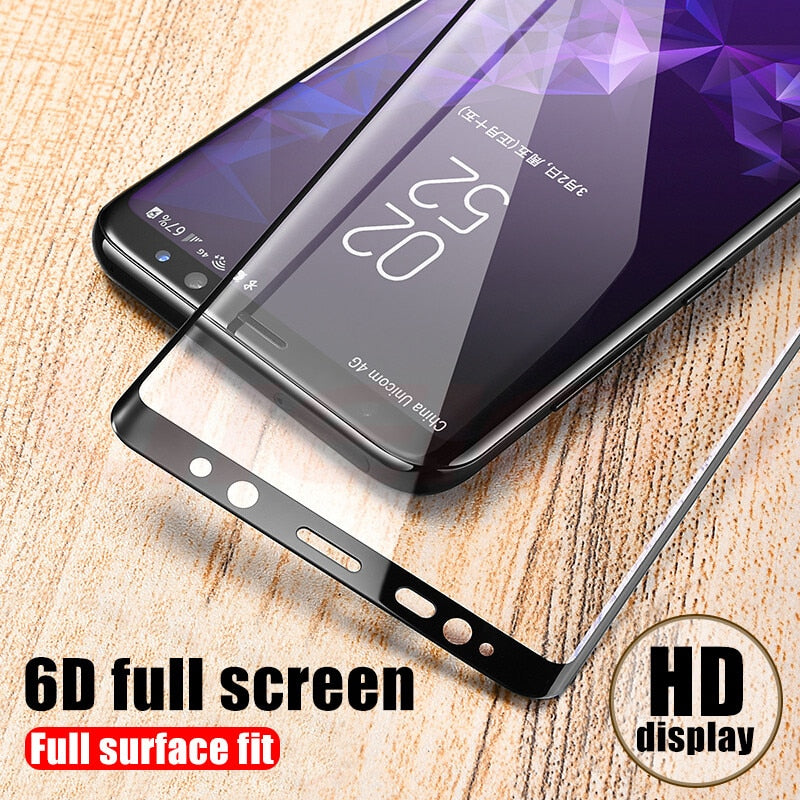 6D Full Curved Cover Tempered Glass Screen Protector Film For Samsung Galaxy