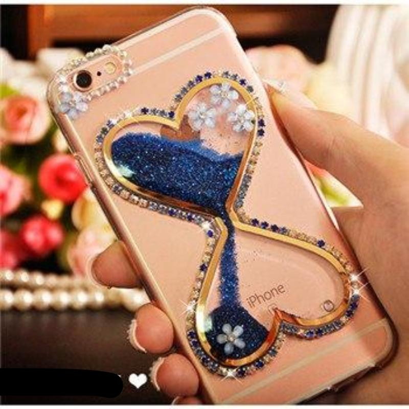 Luxury Glitter Flowing Sand Hourglass Liquid Sand Case for iPhone