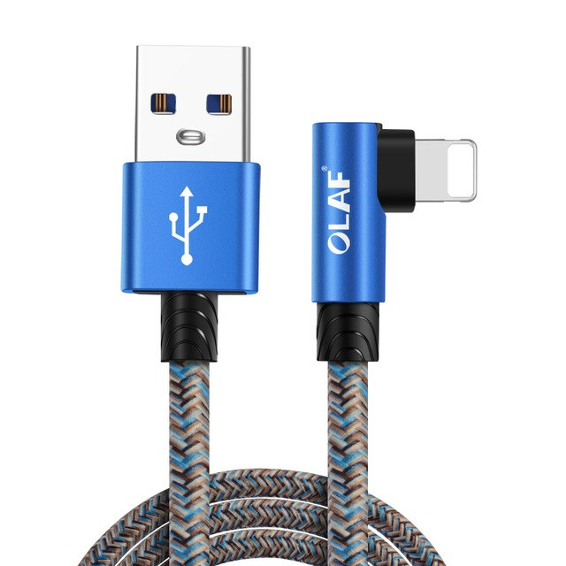 90 Degree L Type Fast Charging 8 Pin USB Cable For iPhone