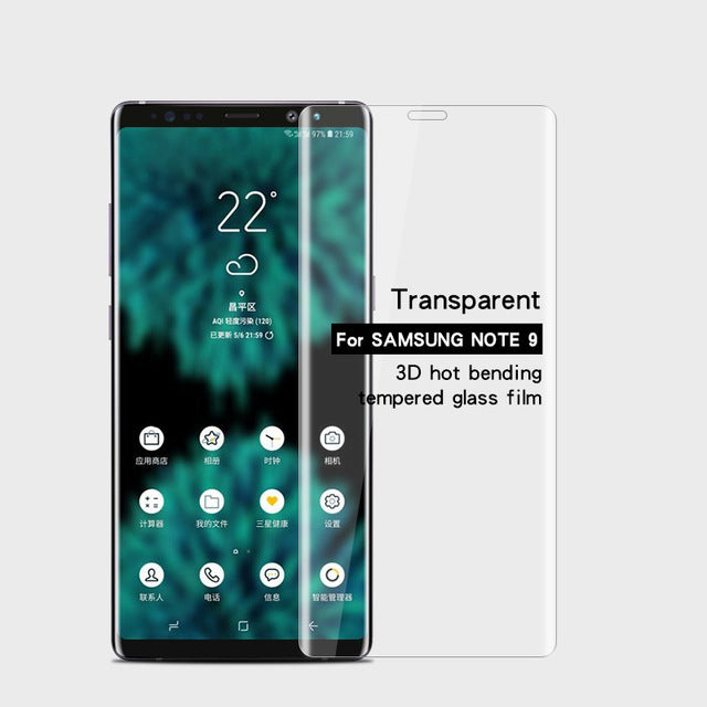 Full Cover Toughened Glass Screen Protector For Samsung Note 9