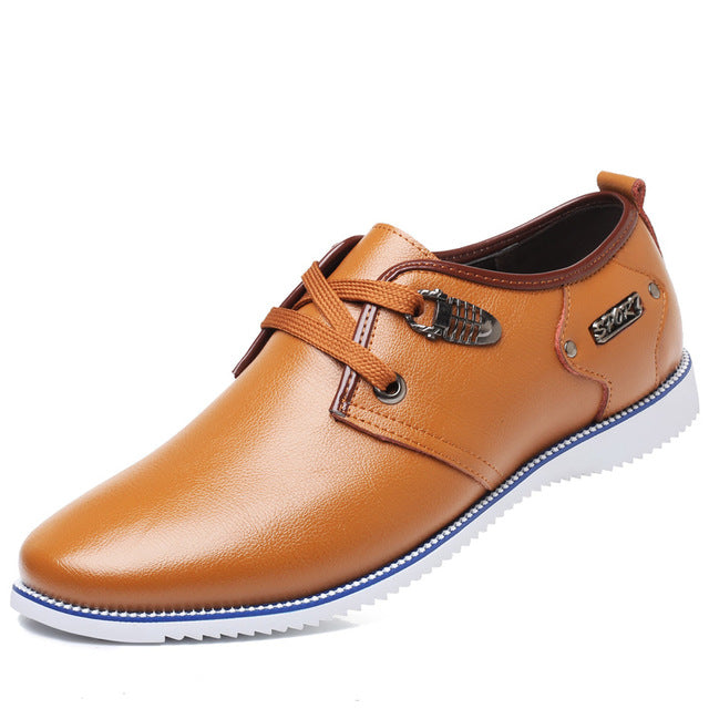 Hot Soft Big Size Men's Genuine Leather Casual Shoes