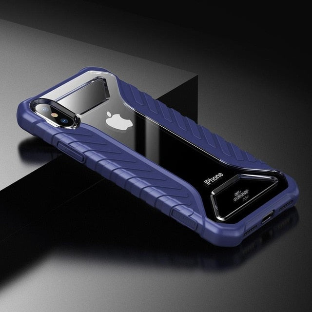 Shockproof Silicone Acrylic Hybrid Anti-slip Phone Case For iPhone Xs Max XR