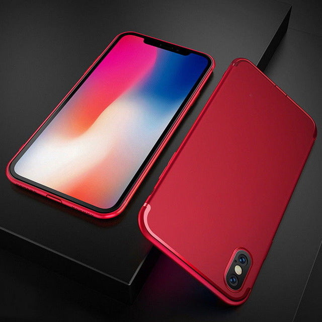 Soft Silicon Matte Case for iPhone Series