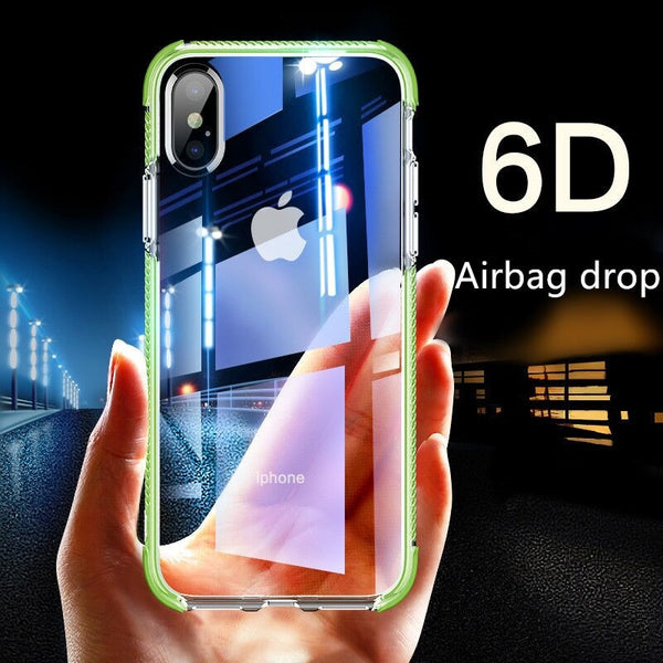 7a3db6e335 Luxury Slim Clear 2 in 1 Soft Silicone TPU +TPE Shockproof Phone Case for  iPhone