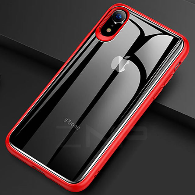 Slim Transparent Silicone Full Protective Phone Case For iPhone XS Max XR X