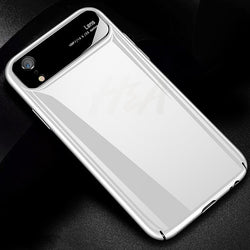 Mirror Anti-knock Hard PC & Glass Case For iPhone X XS XR XS Max