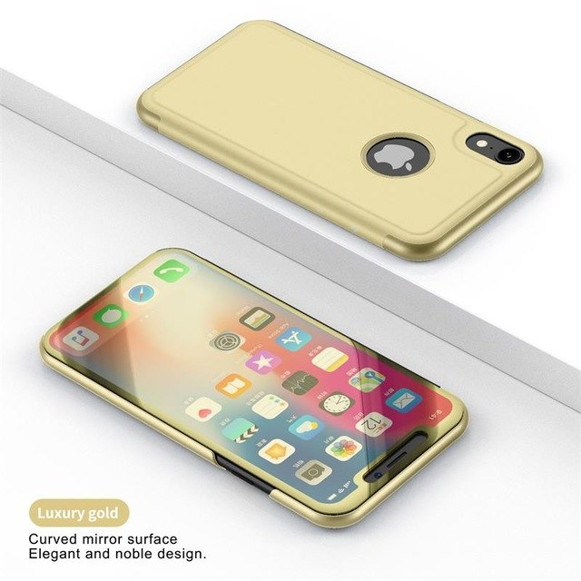 360 Luxury Flip Stand Mirror View Cover For iPhone