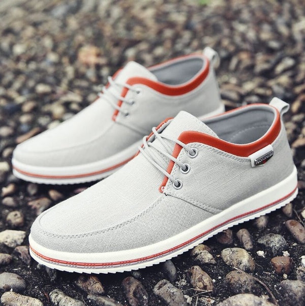 New Arrival Men Comfortable Lace-Up Casual Canvas Shoes