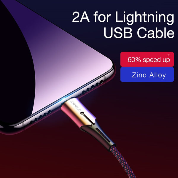 2 4A USB Lightning Sync Data Transfer Charging Cable Cable for iPhone