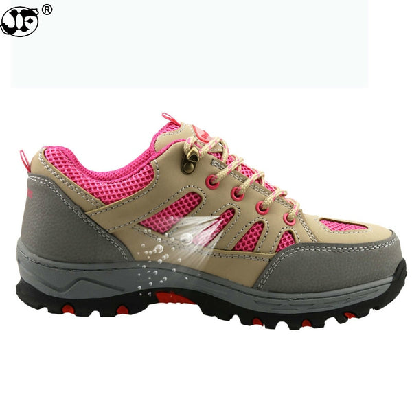 New women breathable steel toe safety work shoes