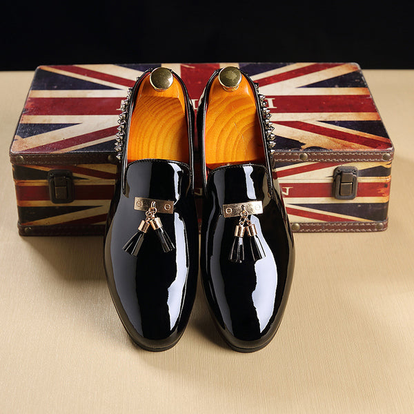 Men Pointed Toe Dress Shoes Leather Oxford Shoes