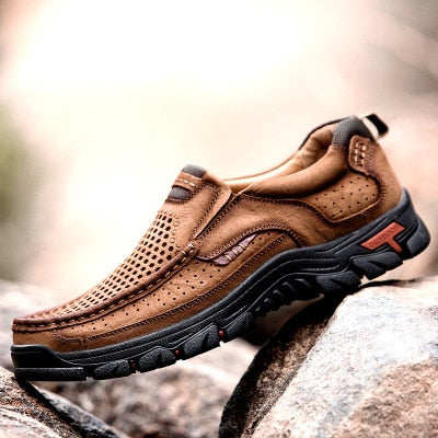 Stylish Men Comfortable Waterproof Hiking Anti-skid Outdoor Sports Shoes