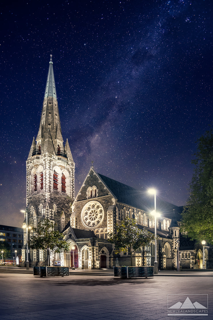 Christchurch Cathedral By Night Colour