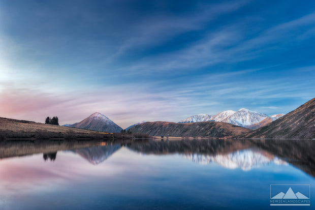 Evening Hues at Lake Pearson - Newzealandscapes photo canvas prints New Zealand