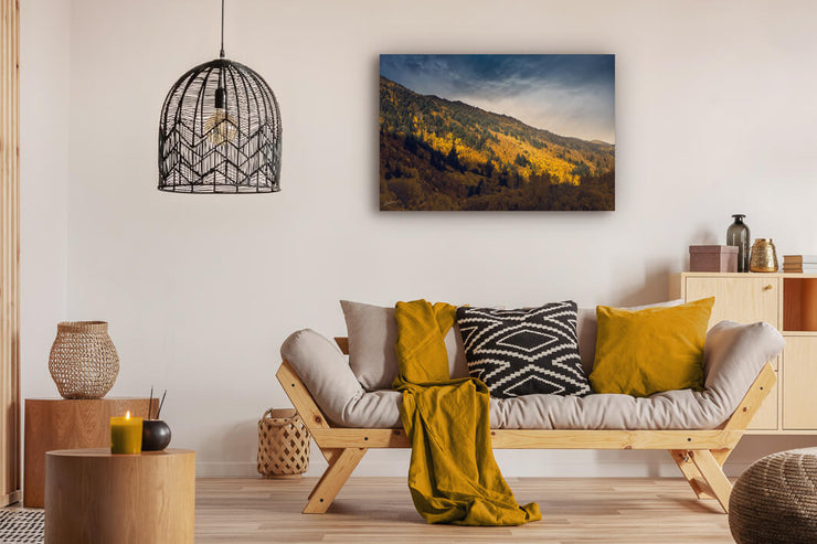 Lounge wall photo print of golden autumn trees in Arrowtown