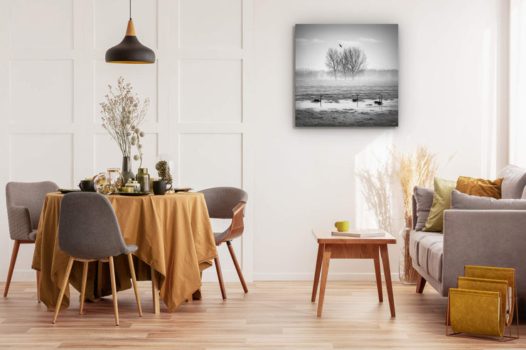 Wall art on dining room wall nature photography