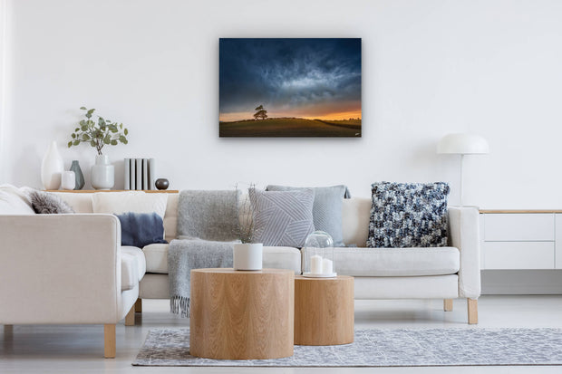 Stormy Skies over Canterbury canvas or photo print on modern lounge wall