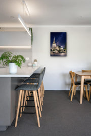Christchurch Cathedral image on kitchen wall as interior art