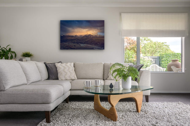 Canvas photo print of wall art on lounge wall Castle Hill