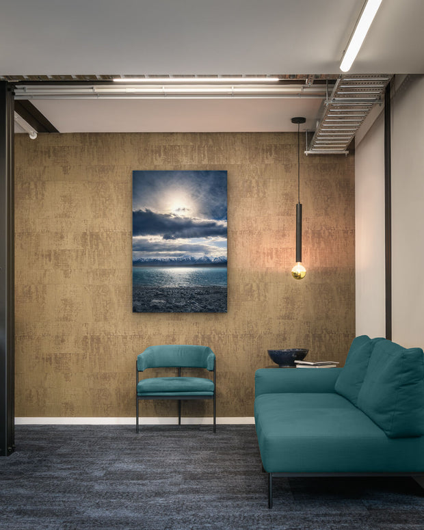 Photo print or canvas print on commercial office wall of Lake Pukaki, New Zealand