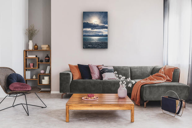 Photo print or canvas print on lounge interior wall of Lake Pukaki, New Zealand