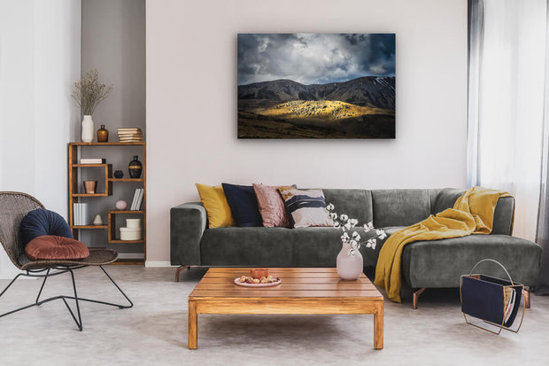 Newzealandscapes canvas photo print of wall art on lounge wall Castle Hill