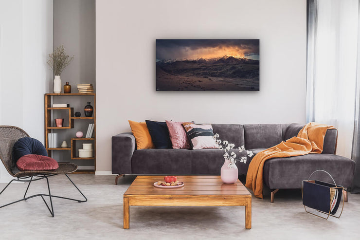 New Zealand landscape on canvas or photo print on lounge wall