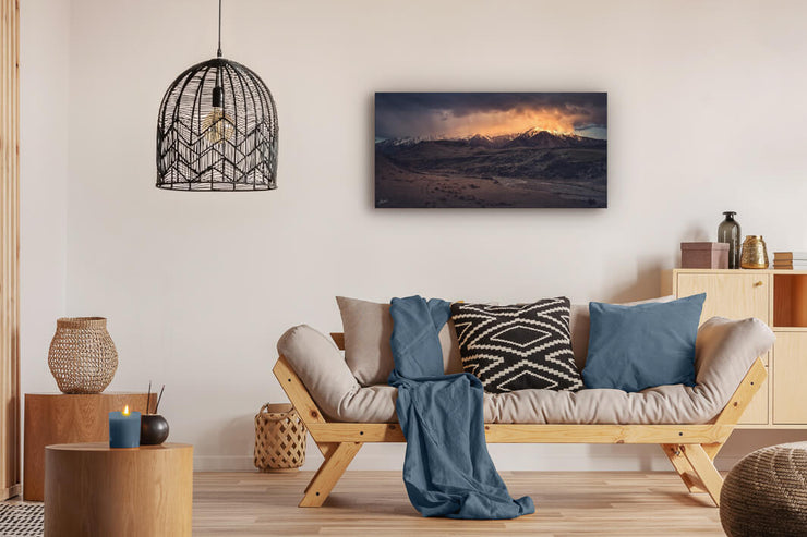 New Zealand landscape on canvas or photo print on lounge interior wall