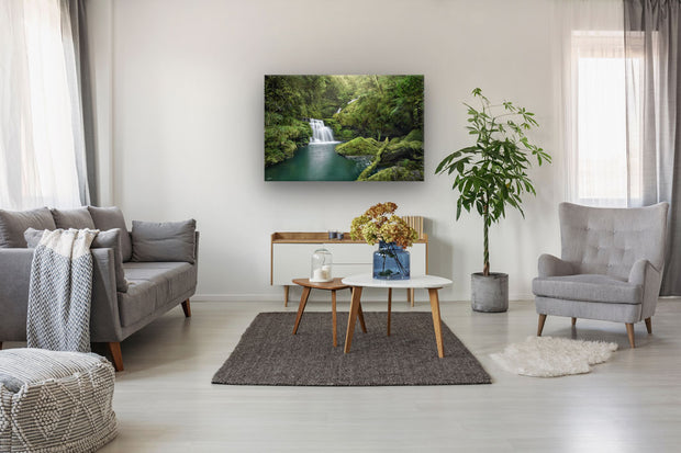 McLean Falls as a canvas or photo print on the wall of a lounge