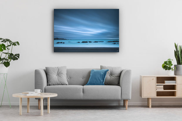 Canvas wall art photo of South Bay in Kaikoura on the wall of a modern home