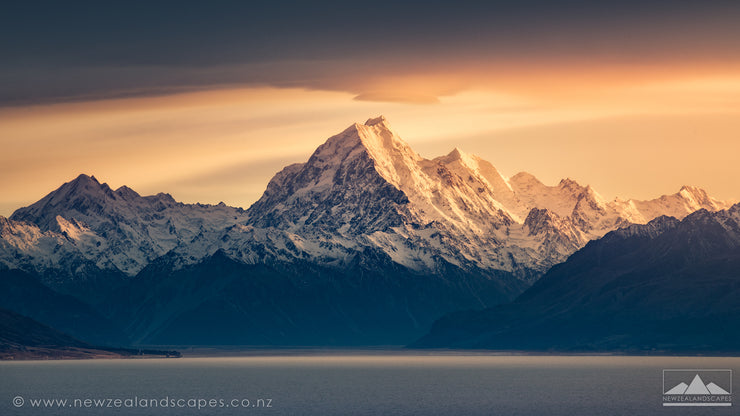 Mount Cook Sunrise - photo canvas prints wall art of New Zealand