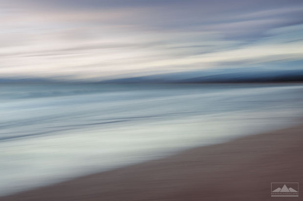 Abstract Ocean Sweep at Waikanae Beach