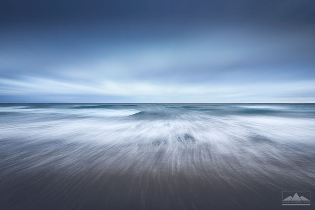 Abstract long exposure landscape photo of the ocean at Mount Maunganui