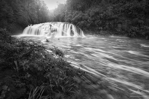 Coal Creek Falls in Black & White